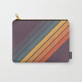 Classic 70s Style Retro Stripes - Dalana Carry-All Pouch