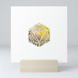 20 sided die of life pursuits Mini Art Print