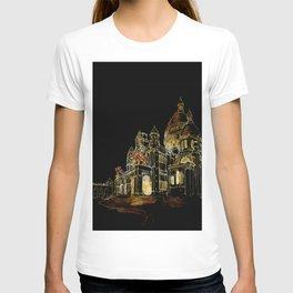 Paris Basilica Sacre Coeur at Night T-shirt