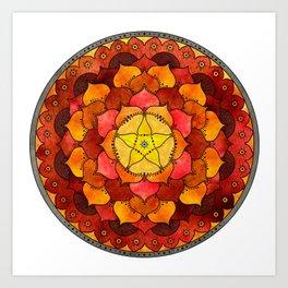 Star Mandala Flame Art Print