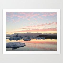 Iceberg Lake Art Print