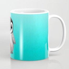 Cute Baby Penguin Playing With Basketball Coffee Mug