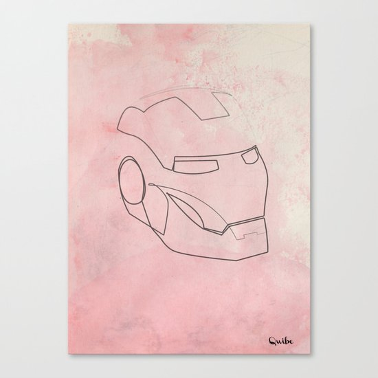 One line Iron Man Canvas Print