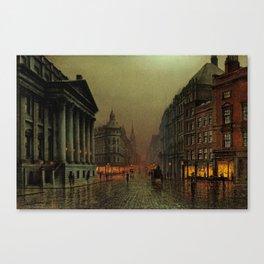 Mansion House, London, England Cityscape by Louis H. Grimshaw Canvas Print