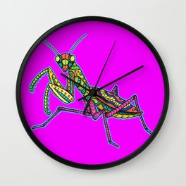 Manti the Praying Mantis Wall Clock