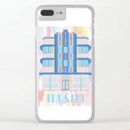 Miami Landmarks - Marlin Clear iPhone Case