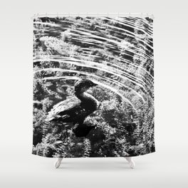 Pied-Billed Grebe Shower Curtain