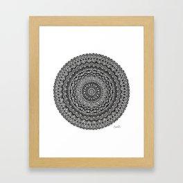 BULLSEYE No. 1 Mandala Drawing Framed Art Print