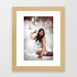 There's A Phonebooth In Heaven That No One Is Calling Framed Art Print