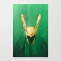 loki Canvas Prints featuring Loki by gallant designs