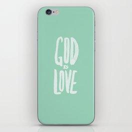 God is Love x Mint iPhone Skin