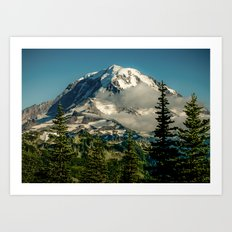 Mountain, Scenic, Mt. Rainier Art Print