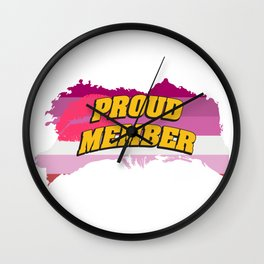 proud member - Gay Pride T-Shirt Wall Clock
