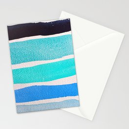 Bright Blue Sea Ribbons Stationery Cards