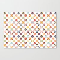quilt Canvas Prints featuring Quilt by Anh-Valérie