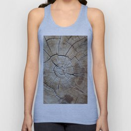 Tree rings of time Unisex Tank Top