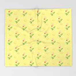 The flowers of the field. Throw Blanket