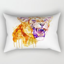 Angry Lioness Rectangular Pillow