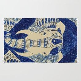 Elephant Doodle #1 Rug