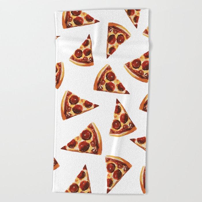 Pizza Fall Beach Towel