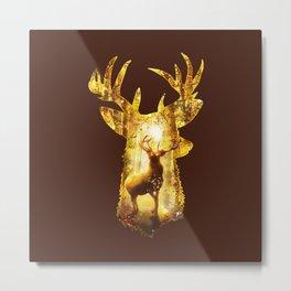 Deer's Woods Metal Print
