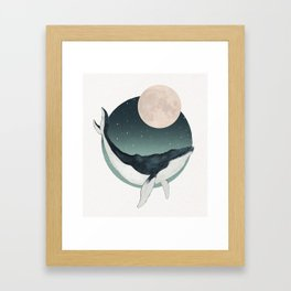 by the light of the moon Framed Art Print