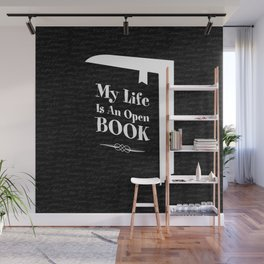 My Life Is An Open Book Wall Mural