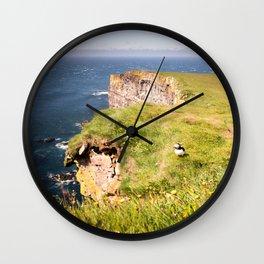 Walk along the cliff Wall Clock