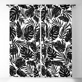 Urban Jungle White Blackout Curtain