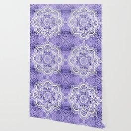 Mandala Lavender Colorburst Wallpaper