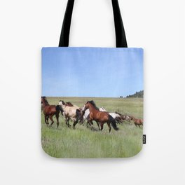 Running Horses Photography Print Tote Bag