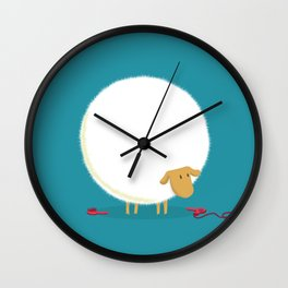 Fluffy Sheep Wall Clock