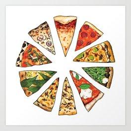 Feast of St. Pizza: Philadelphia Edition Art Print