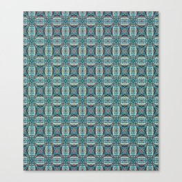 Turquoise Weave Pattern Canvas Print