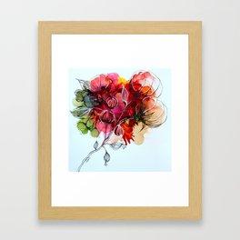 Fleurs de coton Framed Art Print