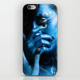 Blue Woman iPhone Skin