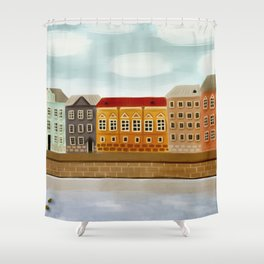 English Embankment Saint-P Shower Curtain