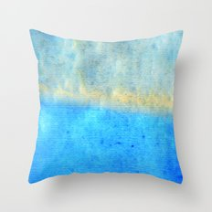 Eternal Blue - Blue Abstract Art By Sharon Cummings Throw Pillow