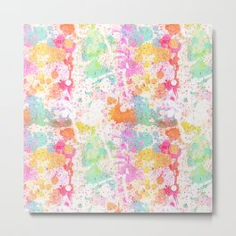 Abstract Paint Splatters Assorted Colors Metal Print
