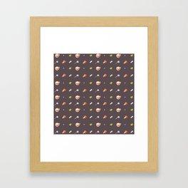 Icing Cookie Pattern_Dark Framed Art Print
