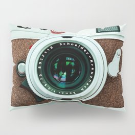Retro vintage leather camera Pillow Sham