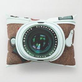 Retro vintage leather camera Pillow Sham