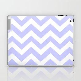 Lavender blue - grey color - Zigzag Chevron Pattern Laptop & iPad Skin
