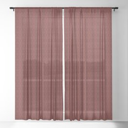 Ruby Red Pattern Design Sheer Curtain