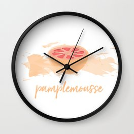 Pamplemousse Wall Clock