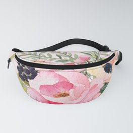 Pretty Pink Posies in Watercolor Fanny Pack