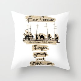 Forgive yourself and move on Throw Pillow