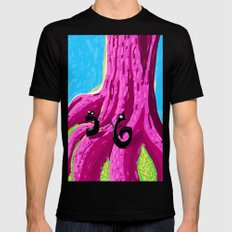 S & 6 Contemplate - With Determination - The Audacity of Climbing the Giant Magic Pink Tree MEDIUM Black Mens Fitted Tee