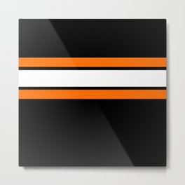 Team Colors...Orange , white stripes with black Metal Print