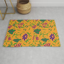 abstract seamless floral pattern exotic shapes Rug